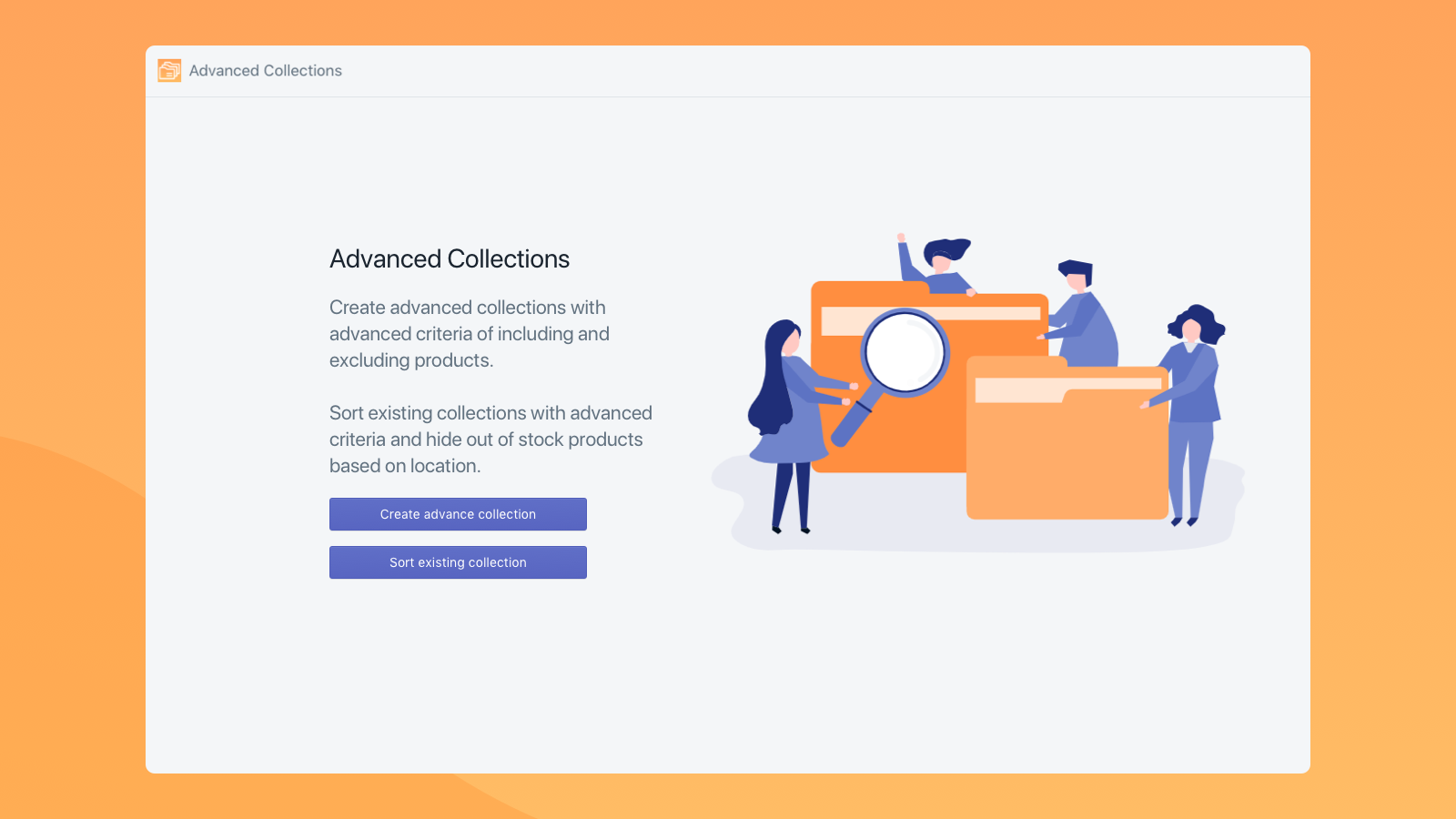 Create advanced collections and sorting