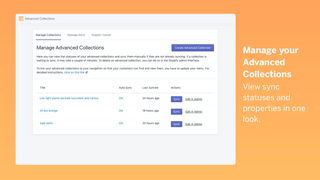 Manage your advanced collections