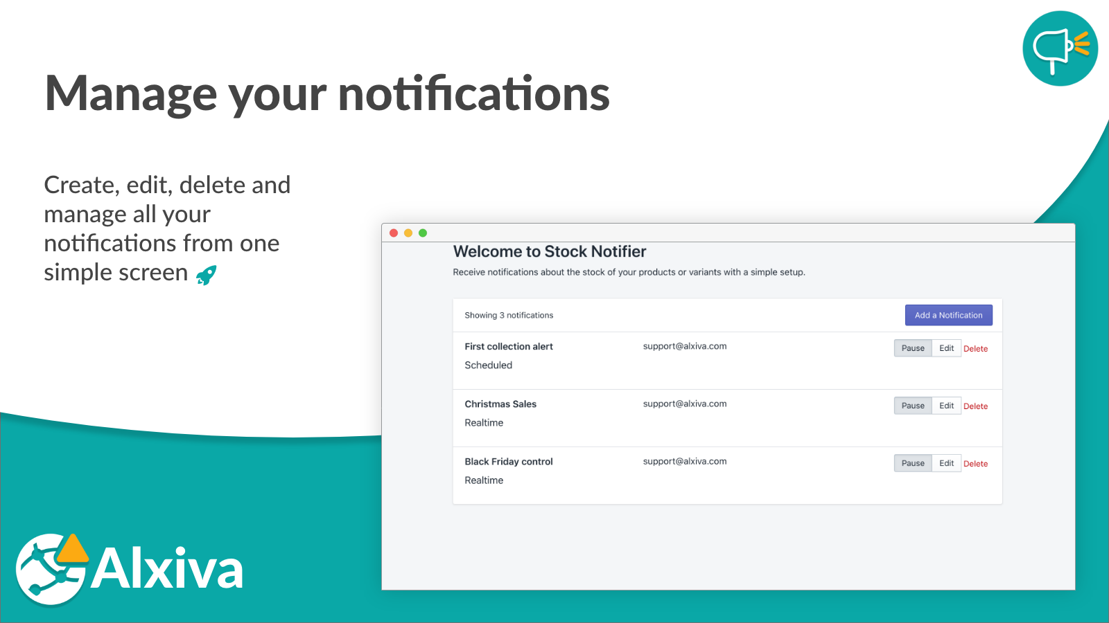 Manage your notifications