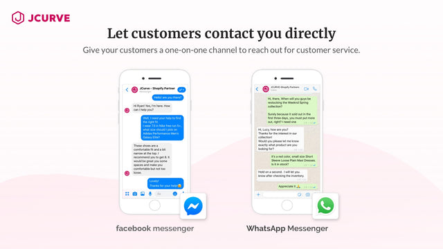Whatsapp, FB messanger Chatting Supported