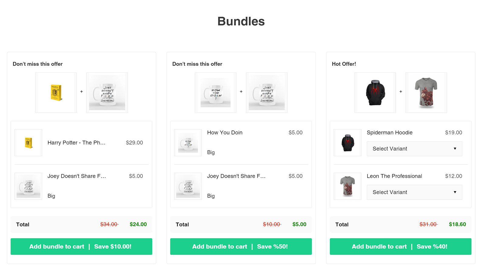 Show All Bundles in One Page. Some People Love it!