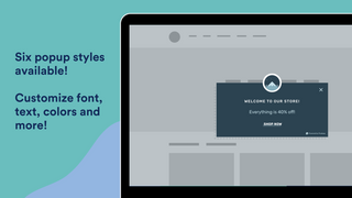 Customize your popup's style, fonts, colors, and more