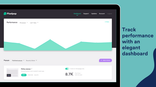 Track popup performance with our elegant dashboard