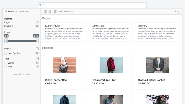 Fast and reliable product search and content search