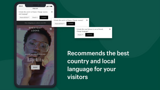 Recommend the best language and currency for your visitors