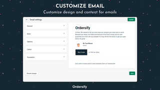 Customize email