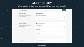 Alerts policy