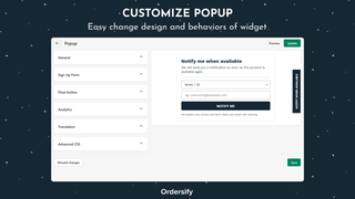 Customize popup