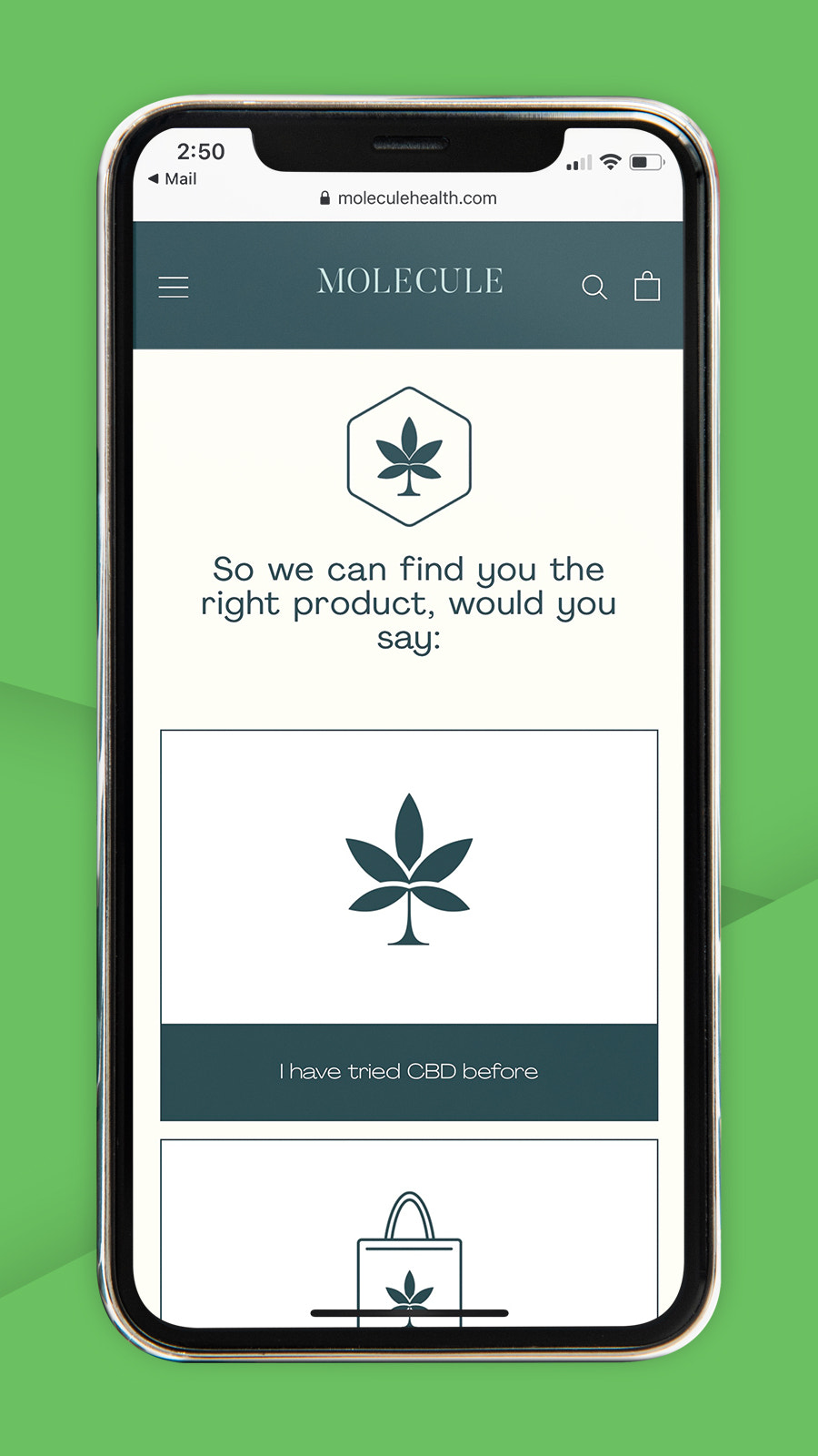 CBD product finder and product recommendations