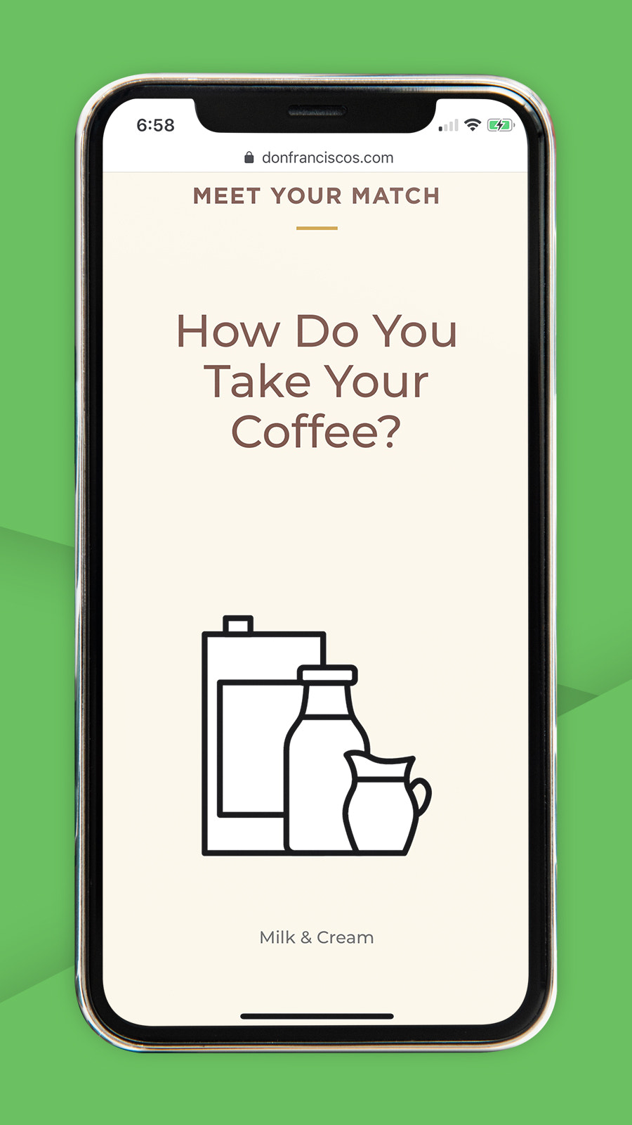 Coffee product finder, quiz and product recommendations