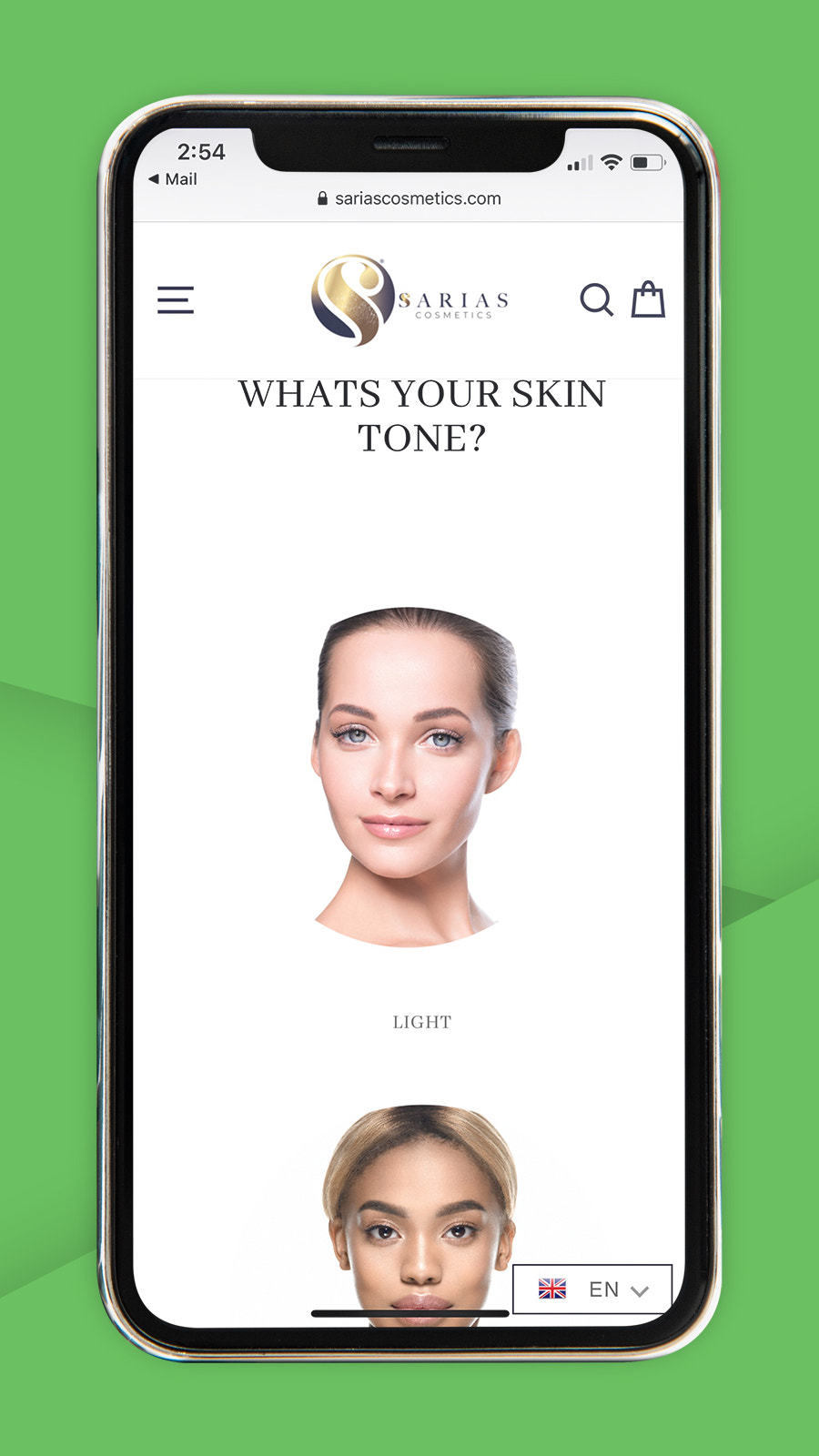 Beauty product finder, quiz and product recommendations