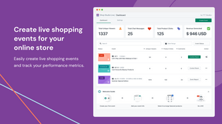Create live shopping events for your online store
