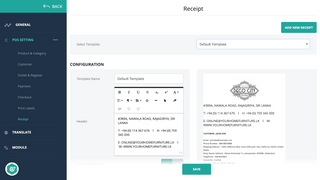 Create custom receipt template on Deskpos and Mobile POS