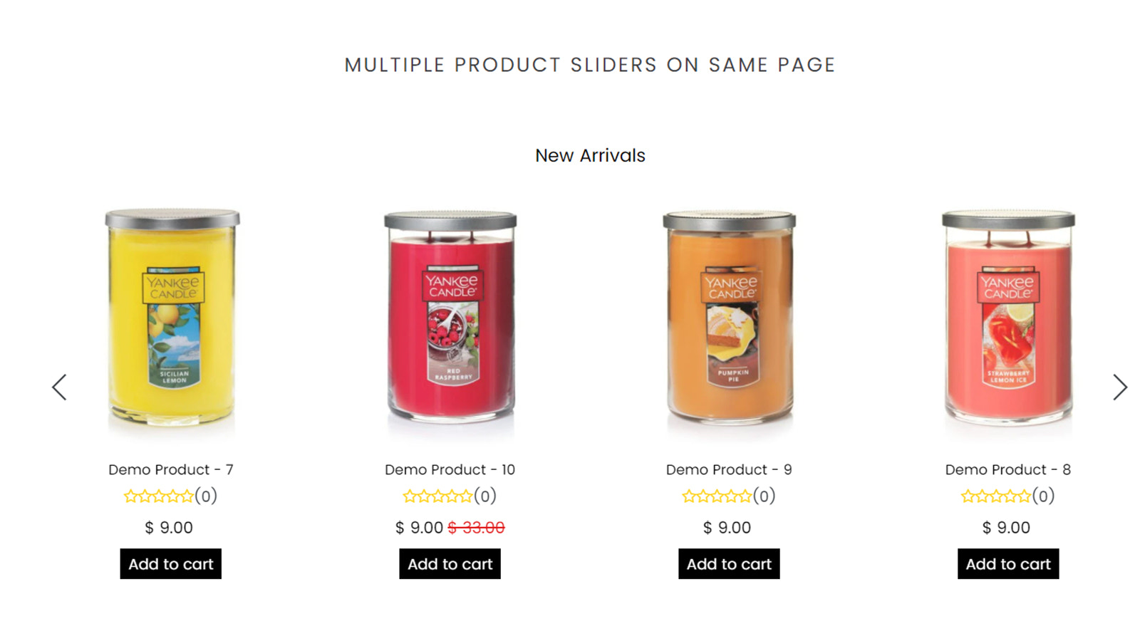 Product slider by enormapps