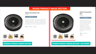 Possibility to resize product image section.