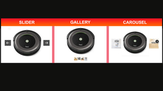 All 3 options available for image presentation: slider, carousel