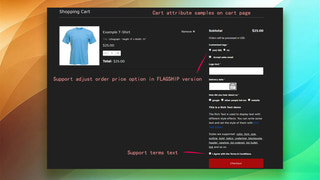 Attributes show on cart page