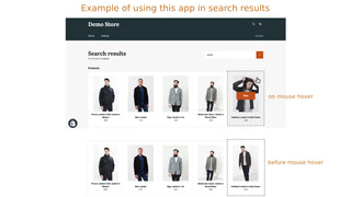 Example of using app in search results