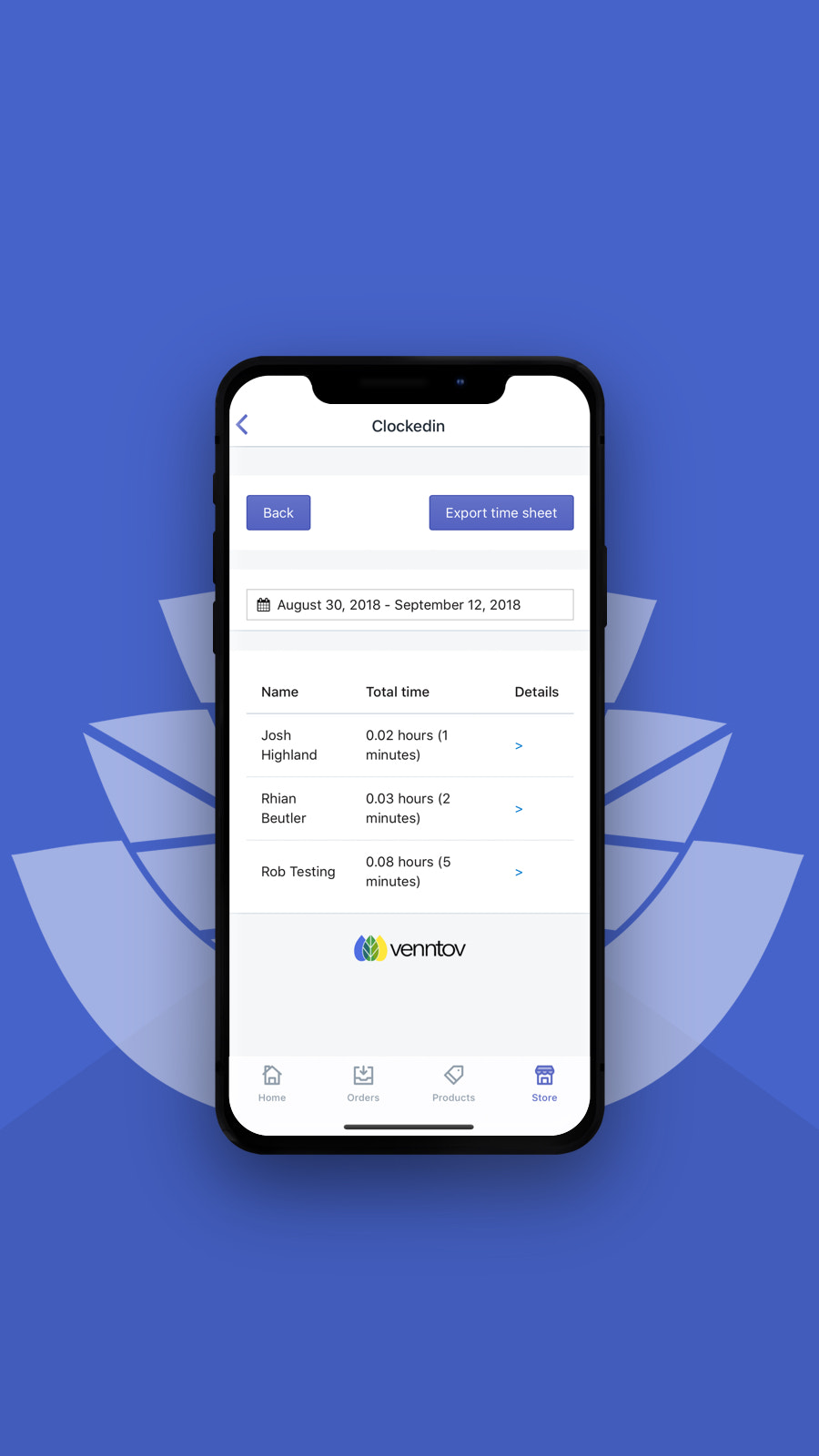 View and manage your team member's hours worked from mobile