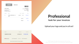 PDF Generator – professional looking invoices / receipts