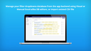 Manage your database with our Visual DB editor or import existed
