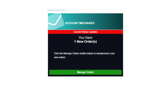 Be notified on your dashboard when you have new orders