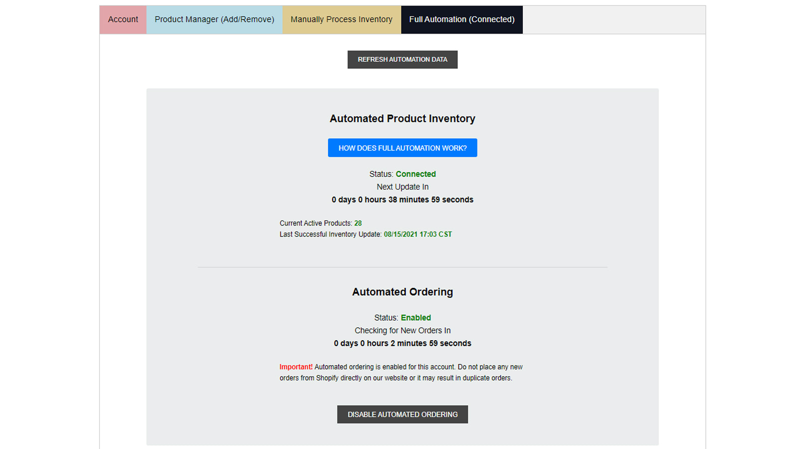 Monitor all automated activities from your dashboard