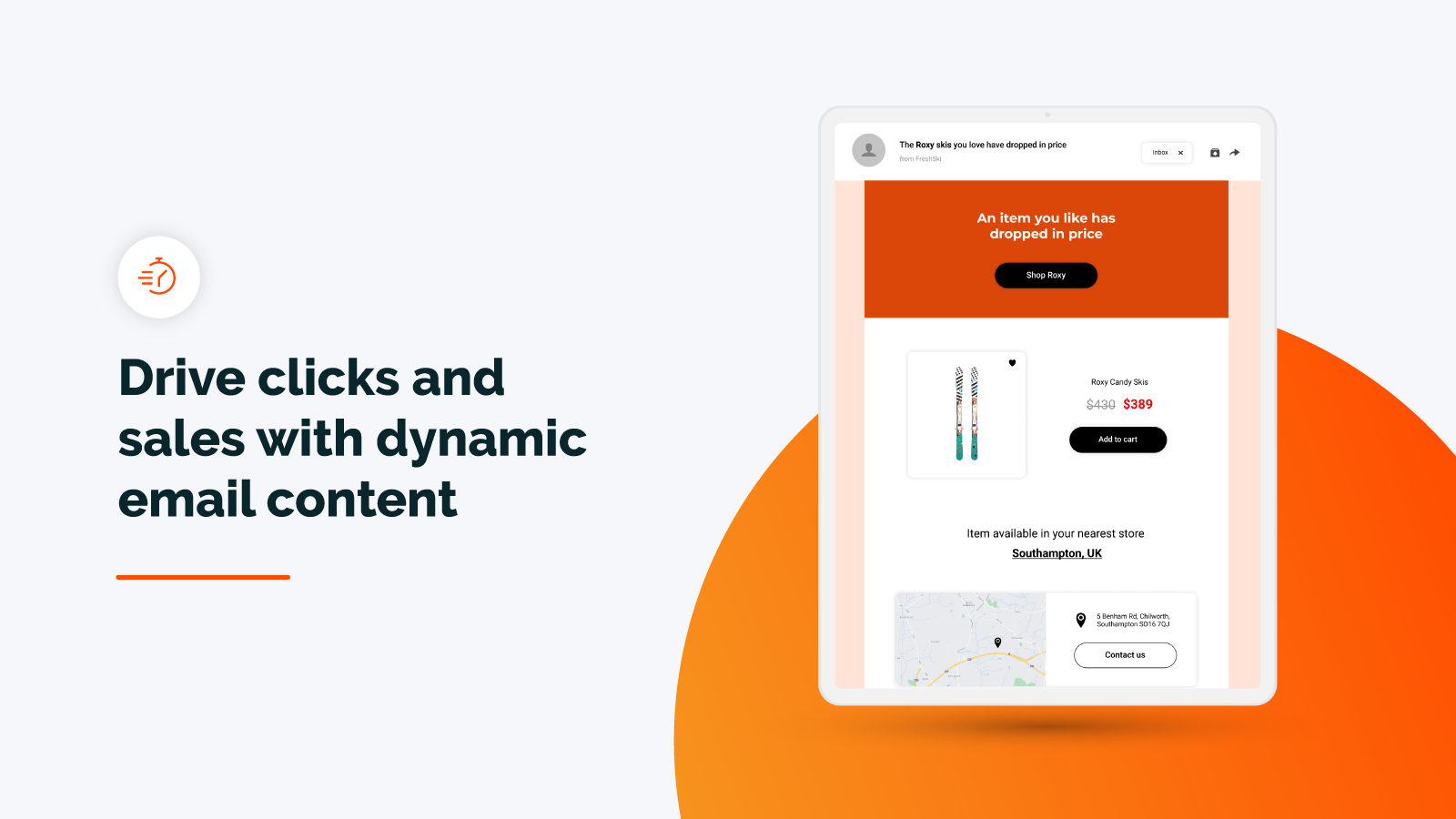Drive clicks and sales with dynamic emails