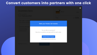 Affiliate App - Refer a Friend Post-Purchase Modal