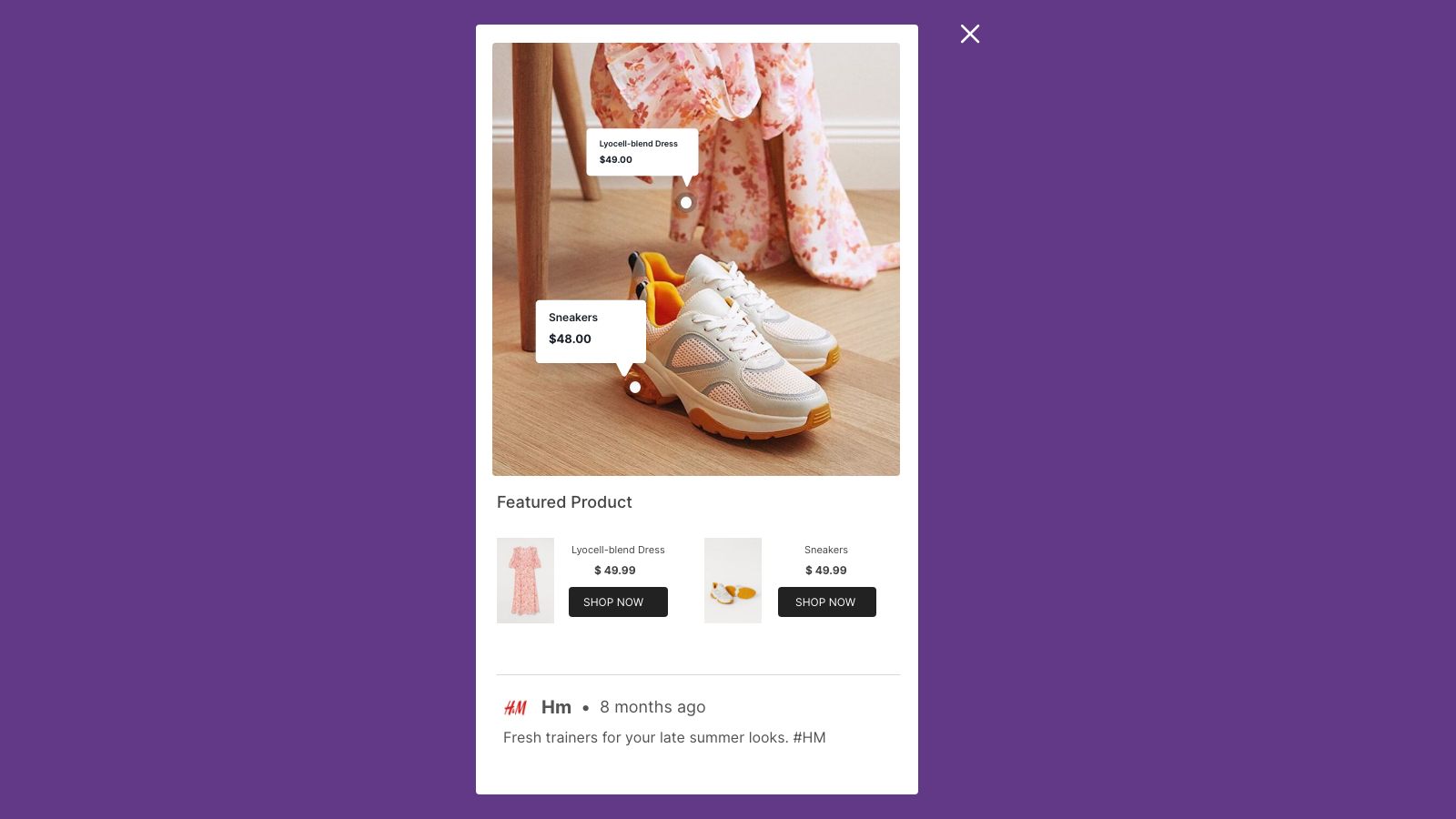 Mobile Shop Instagram Feed Popup
