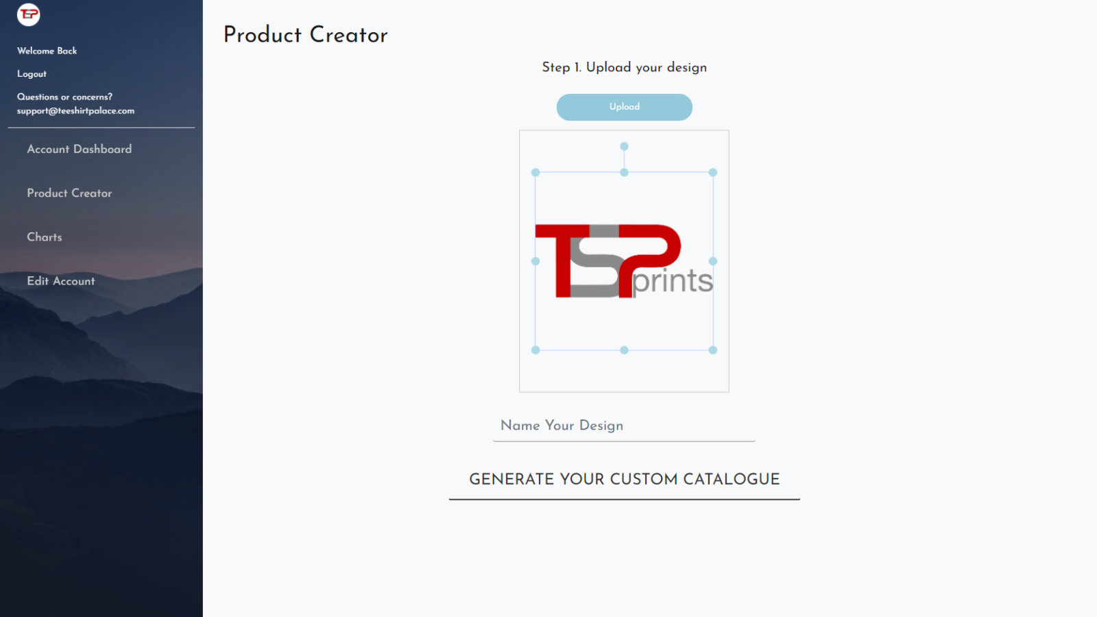 Easily Upload Your Design