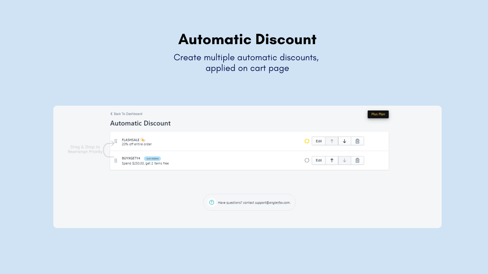 Multiple automatic discounts