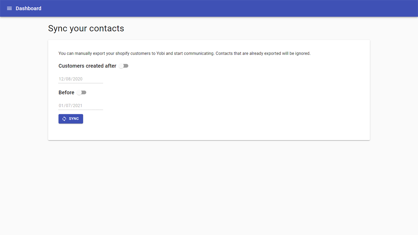 Sync your contacts