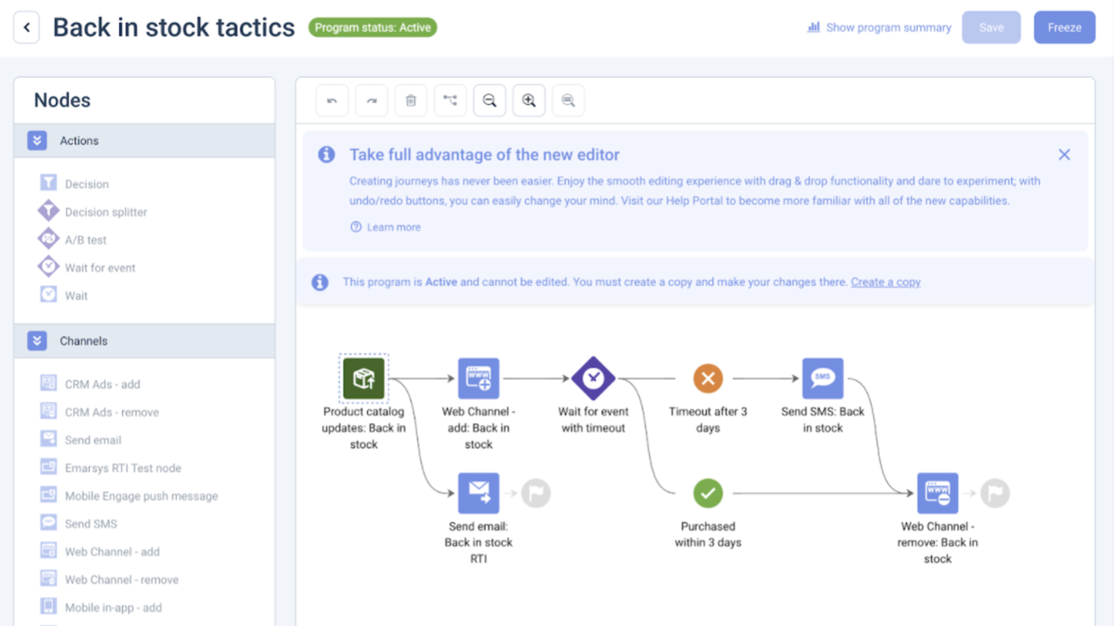 Back-in-stock Tactic Automation Flow