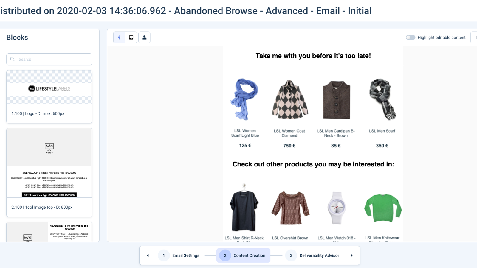 Personalised Product Recommendations for Email and Website