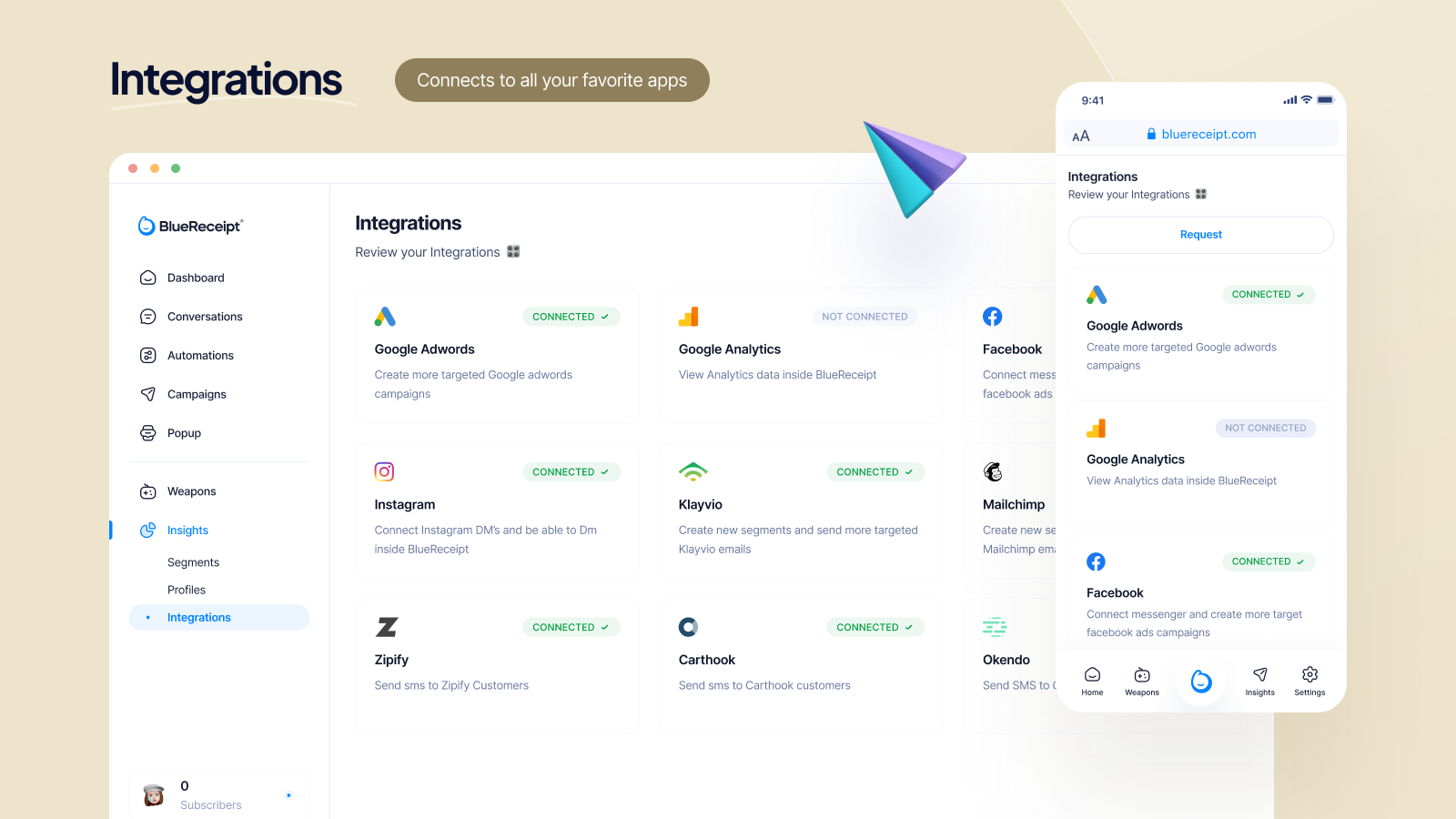 Integrations across all of your platforms and tools