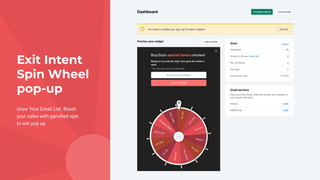 interactive pop up, spin wheel popup, jackpot pop up,spin to win