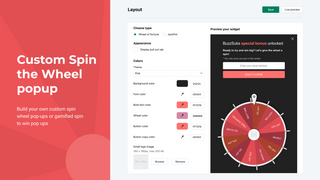 Exit intent Popup, spin wheel pop up,gamified popup, spin to win