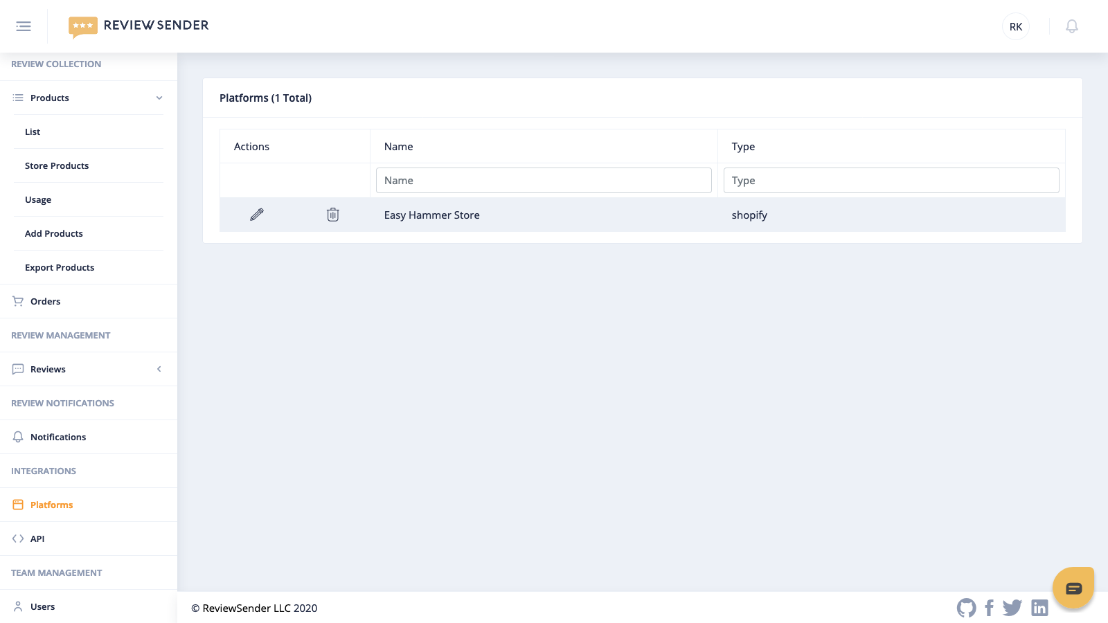 You can manage your stores in your account.