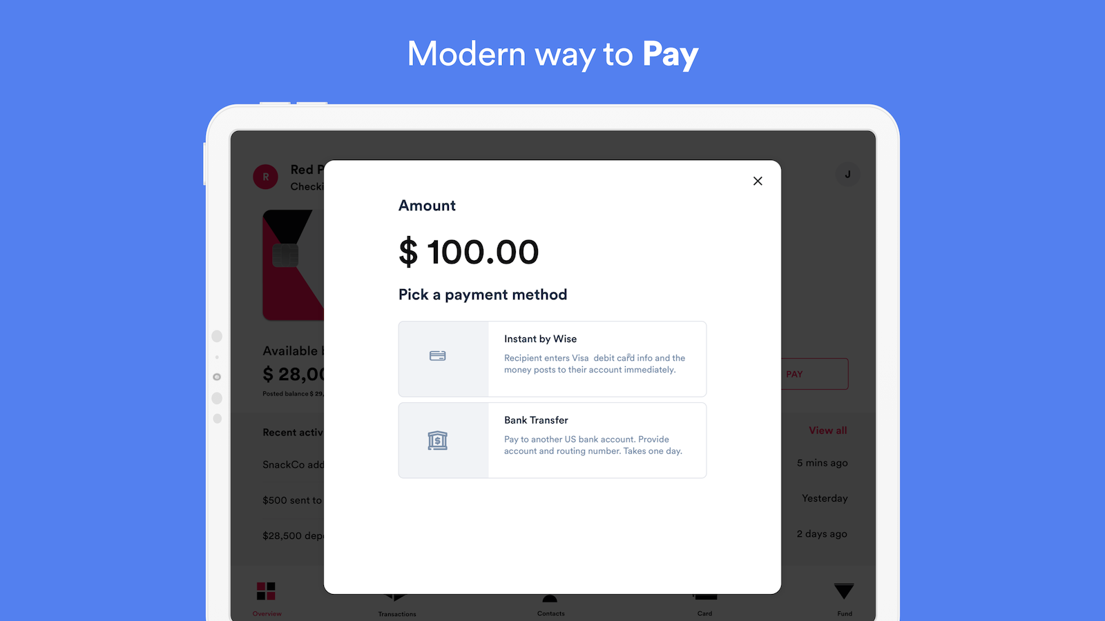 Pay from Wise