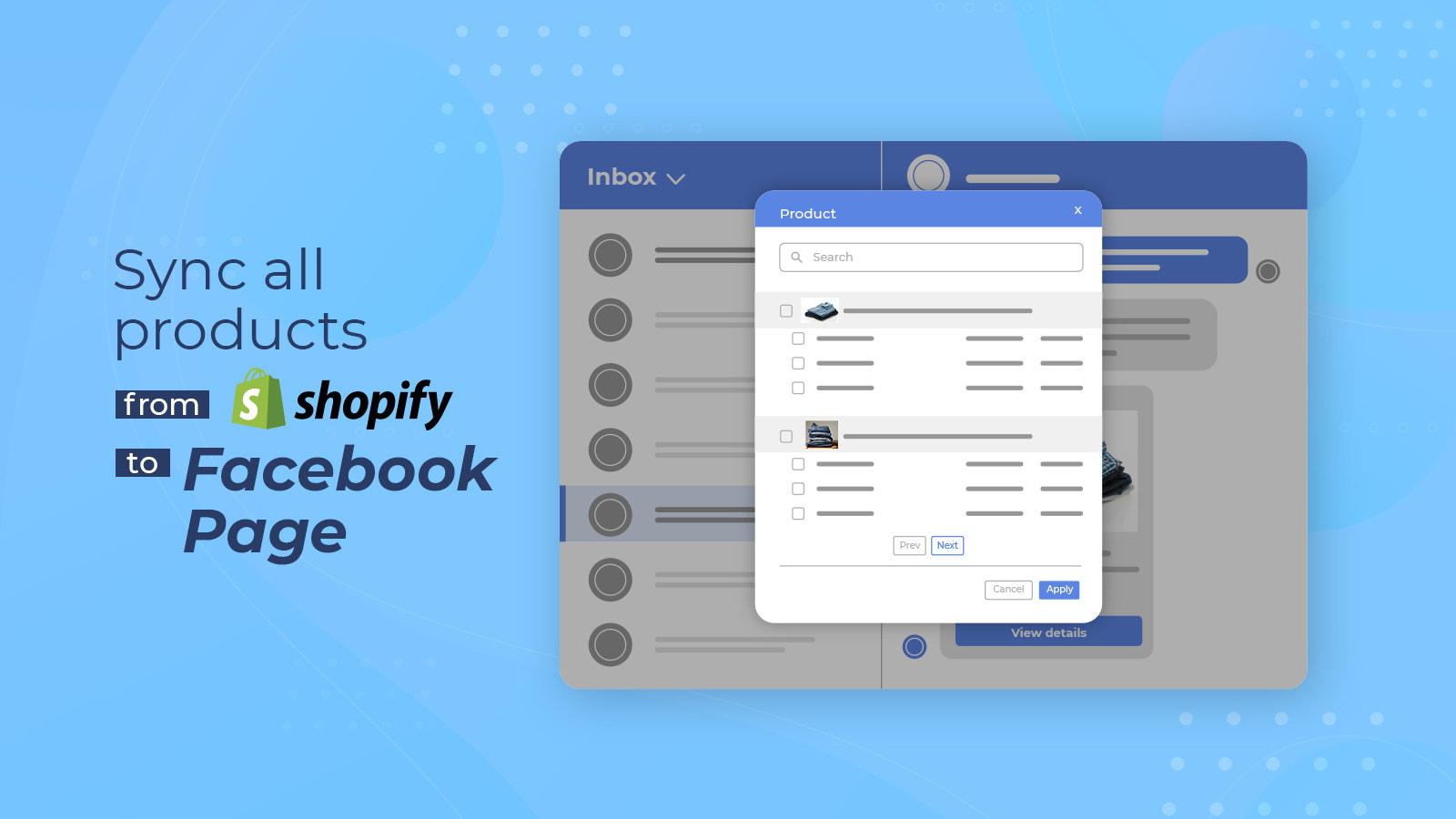 Sync all product shopify to Facebook page