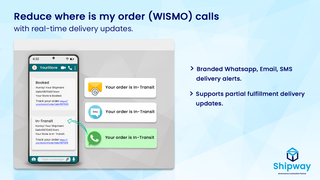 Whatsapp, SMS & Email Delivery alerts