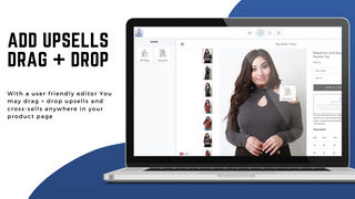 drag + drop upsells and cross-sells anywhere in product page