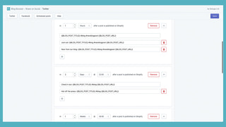 Edit the schedule to maximise your engagement