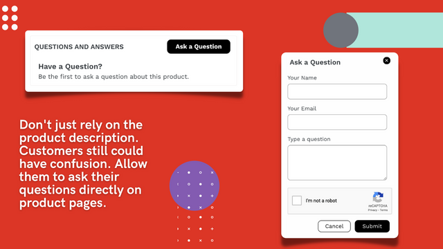 Product Questions And Answers Store Front