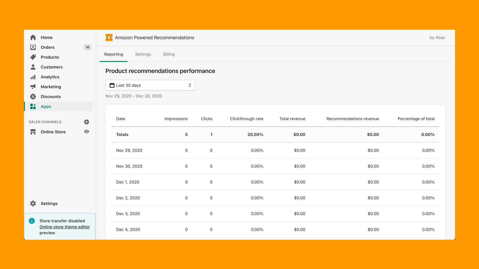 See real-time reports on the performance of recommendations