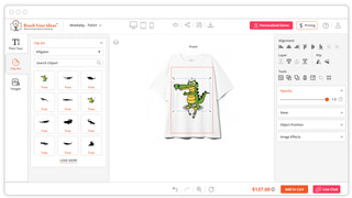 Shopify T-shirt Design Tool