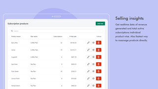 Subscription View of Shopify payment - Shopify subscriptions