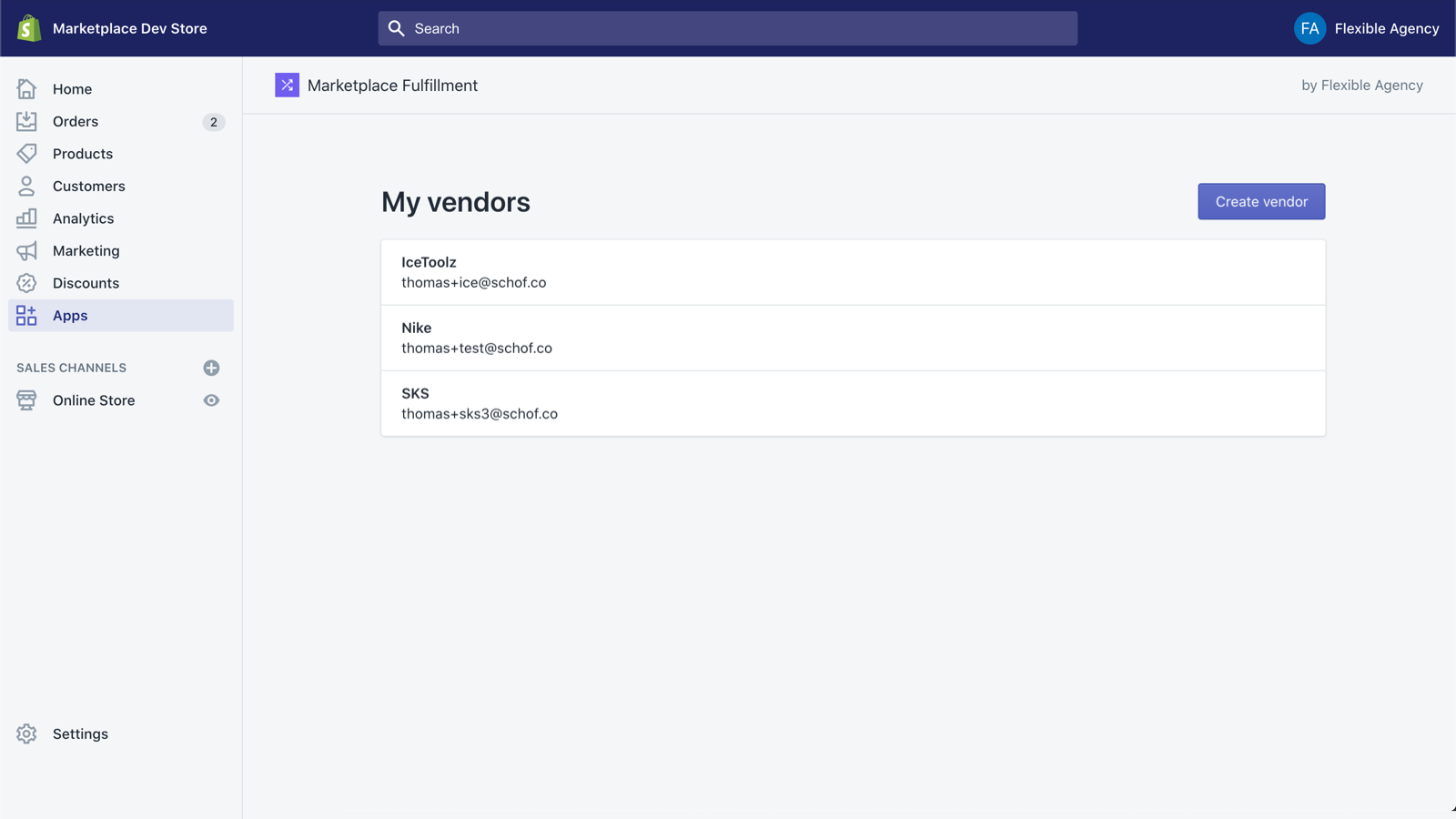 Manage vendors directly in Shopify