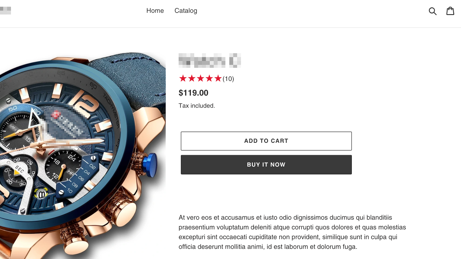 Star rating widget on product page
